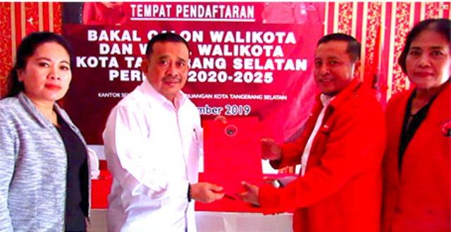 TB Rahmad Sukendar Resmi Daftarkan Diri Bakal Calon Walikota Tangerang Selatan Periode Tahun 2020-2025