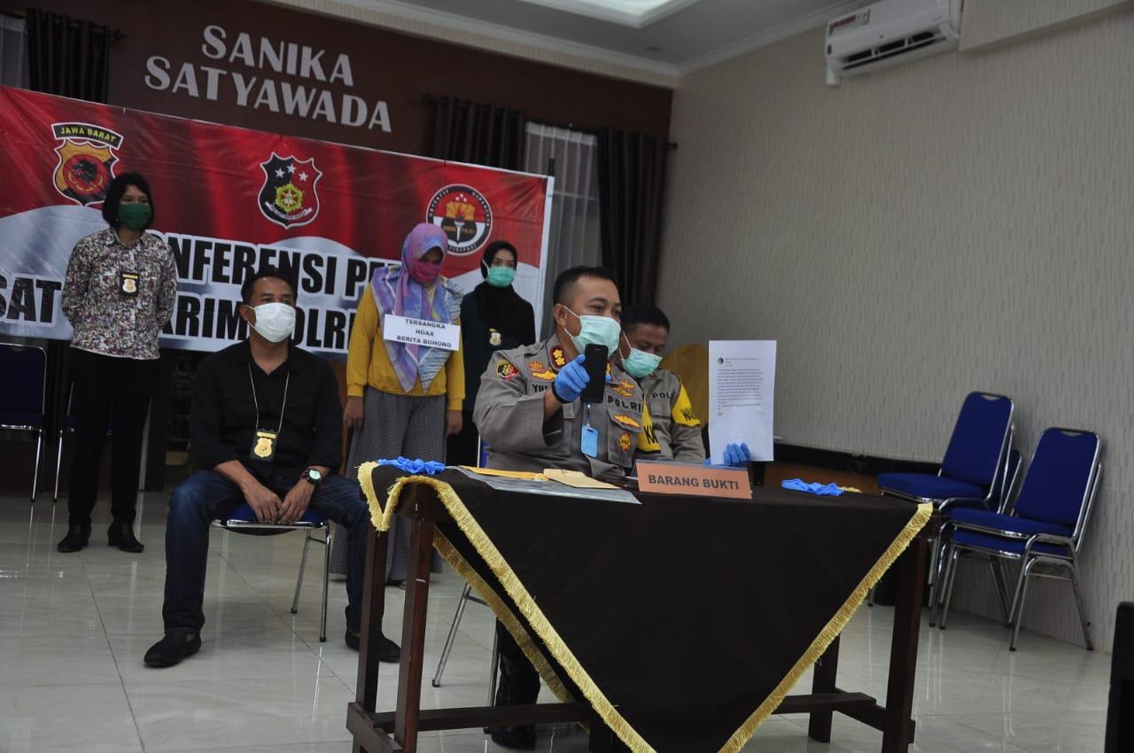 Tim Reserse Kota Banjar Amankan Penyebar Berita HOAKS